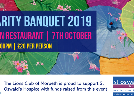 Charity Banquet 2019 - in support of St Oswald's Hospice