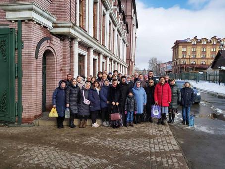 28 февраля состоялась паломническая поездка группы прихожан с Свято-Троицкий Алатырский монастырь
