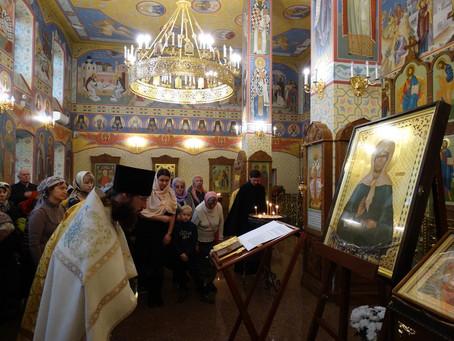 Прибытие иконы святой Матроны Московской