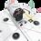 Thumbnail: Unité de direction Pivot incl. rotateur kal. utilisé pour Segway Gen2
