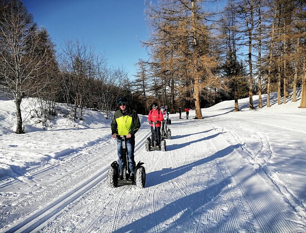 Segway en Savoie sur la neige
