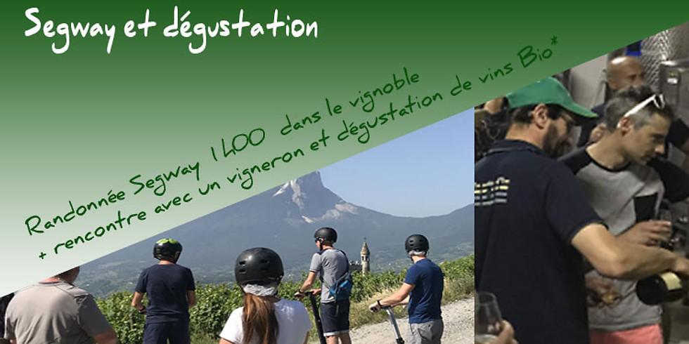 Promo : Randonnée Segway + Dégustation de vins bio à Chignin. 39€ /pers.