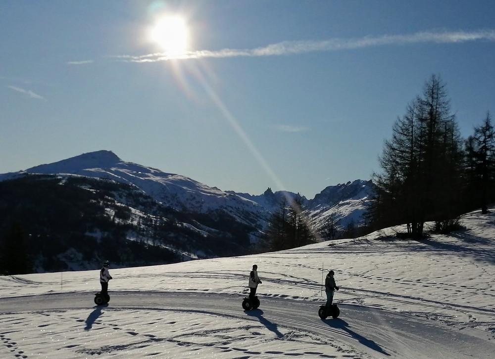 Segway sur la neige haute Savoie
