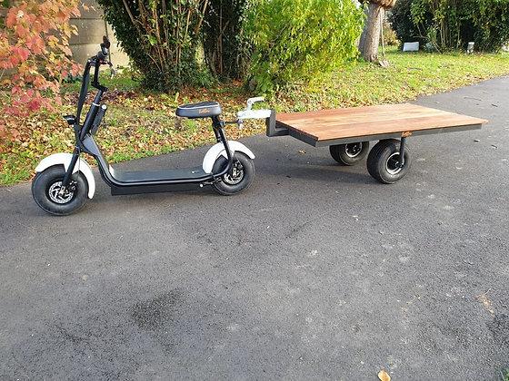 Remorque 2 roues 150x180 plateau bois trotelux