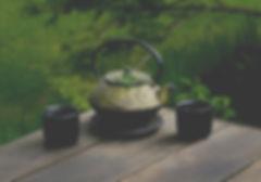 selective focus photography of gray teap
