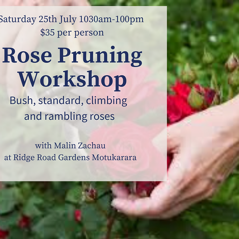 Rose Pruning Workshop