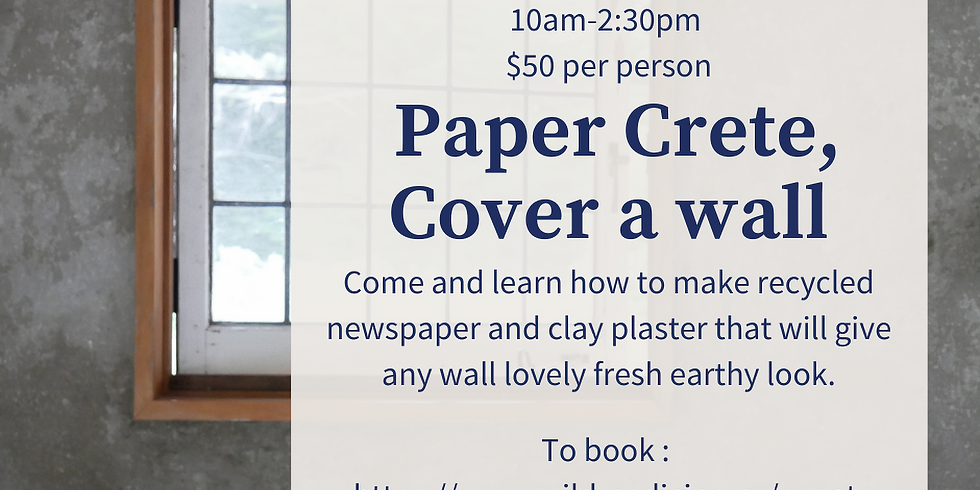 Paper Crete, How to make plaster from newspapers