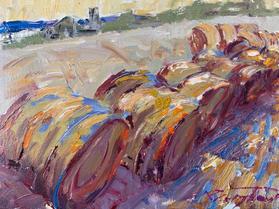 Hay Bales in Color