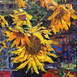 24_x30_ SunFlowers, working this week in my studio.jpg 711 Main Argenta Arts District NLR Ark.jpg