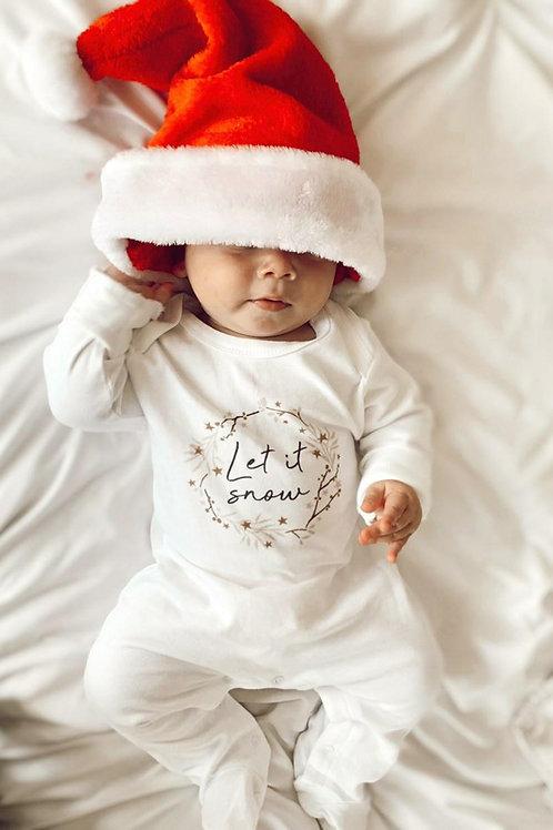 LET IT SNOW | Organic Sleepsuit