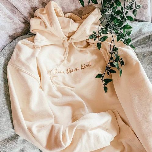 Raise them kind   embroidery   adult hoodie