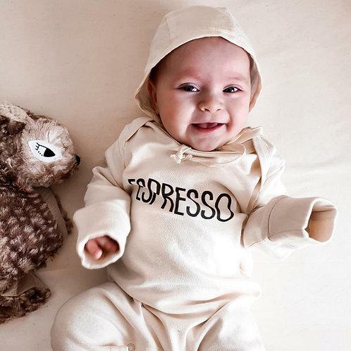 'Espresso©' Organic Baby Sleepsuit