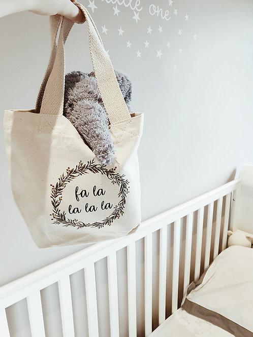 'Fa la la' Christmas Childrens Tote Bag
