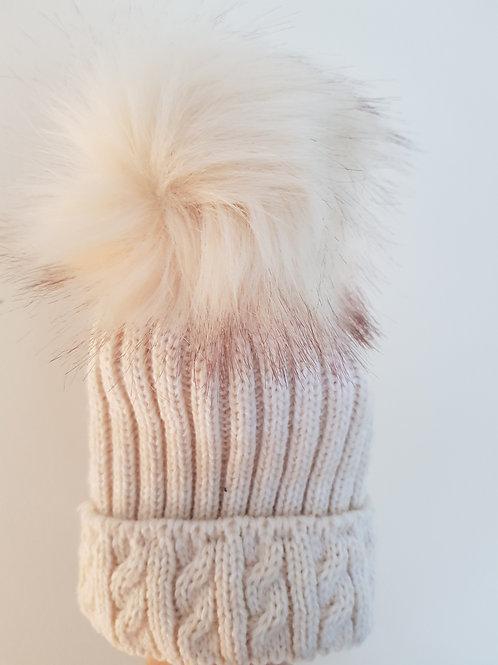 Baby Cappucino Pom Pom Hat