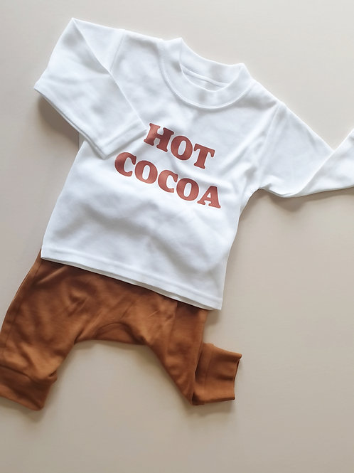 *Limited Edition* HOT COCOA |  Tee & Sleepsuit