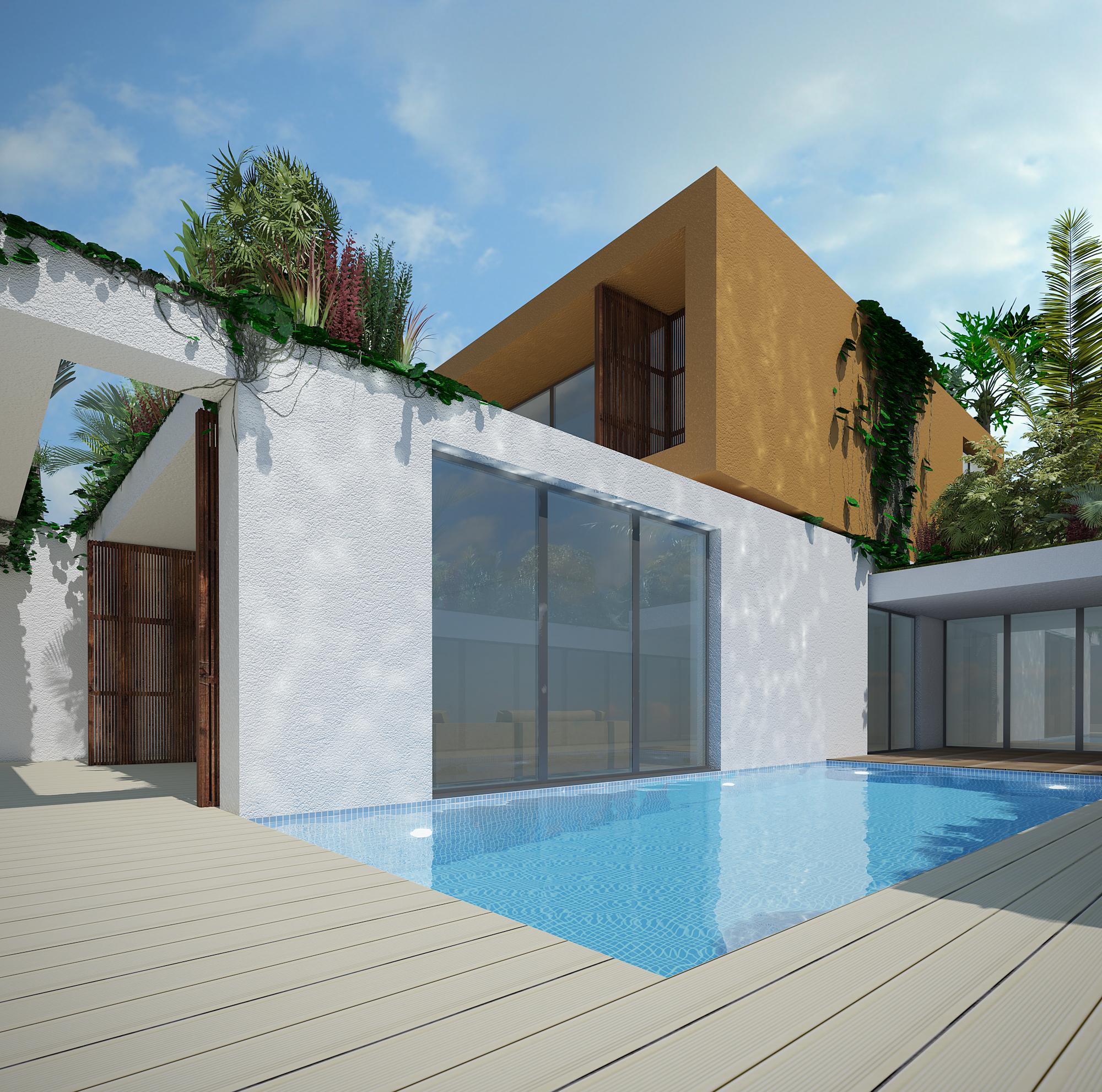 Vista da piscina exterior