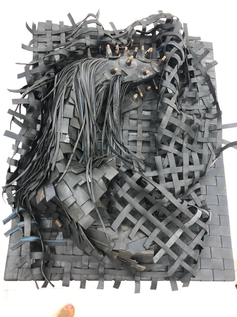 Peça de arte contemporânea presente no espaço Bongoy