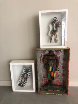 Peças de arte contemporâneas presentes no espaço Nelo Teixeira