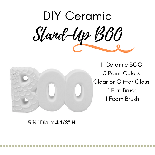 DIY Stand-Up BOO Ceramic Painting Kit