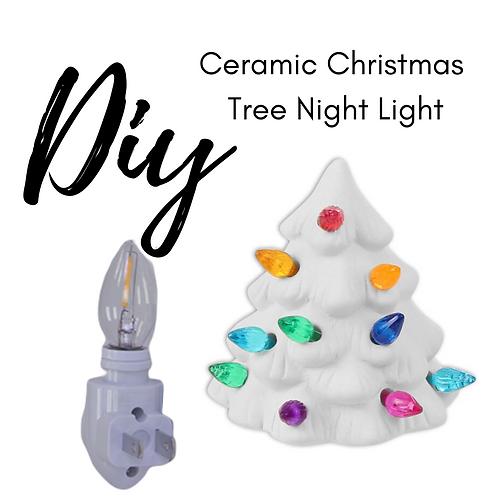 Ceramic Christmas Tree Night Light Kit