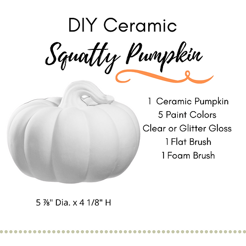 DIY Squatty Pumpkin Ceramic Painting Kit