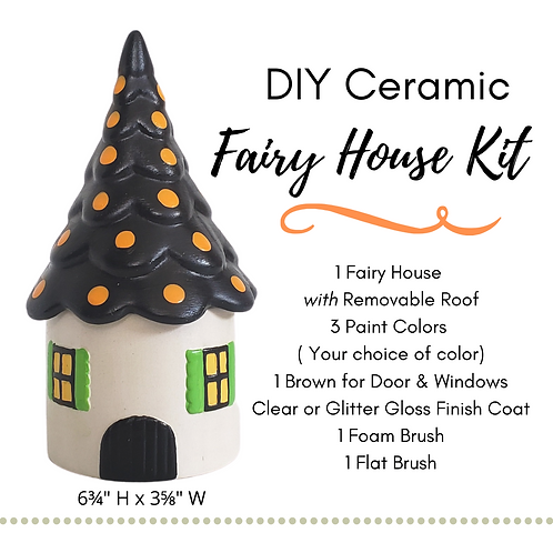 DIY Ceramic Fairy House With Removable Scallop Roof