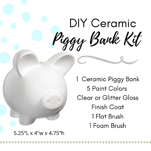 DIY Ceramic Piggy Bank Kit