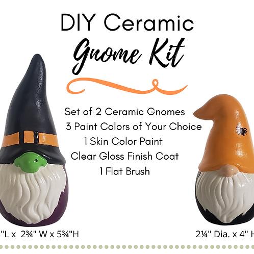 DIY Ceramic Gnomes Painting Kit