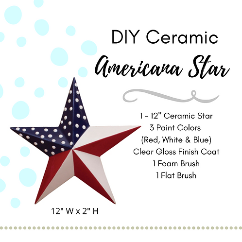 "12"" Ceramic Americana Star Kit"