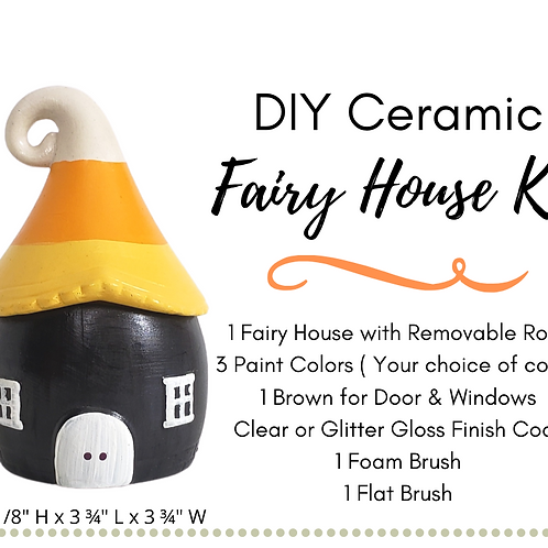 DIY Ceramic Fairy House With Removable Whimsical Roof