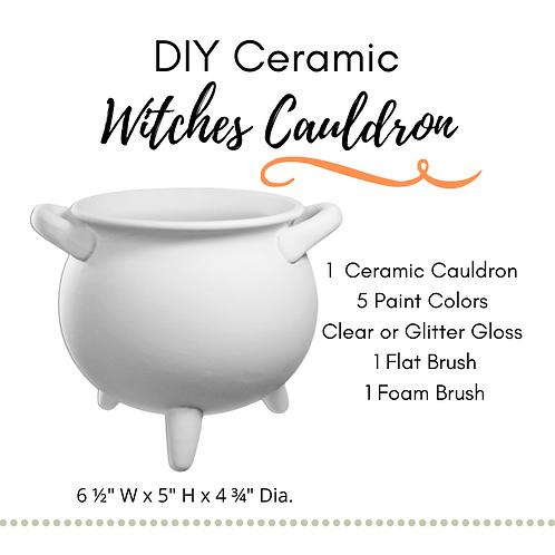 DIY Witches Cauldron Ceramic Painting Kit