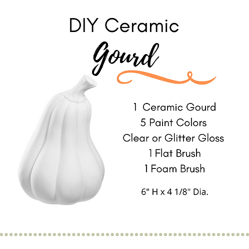 DIY Gourd Ceramic Painting Kit