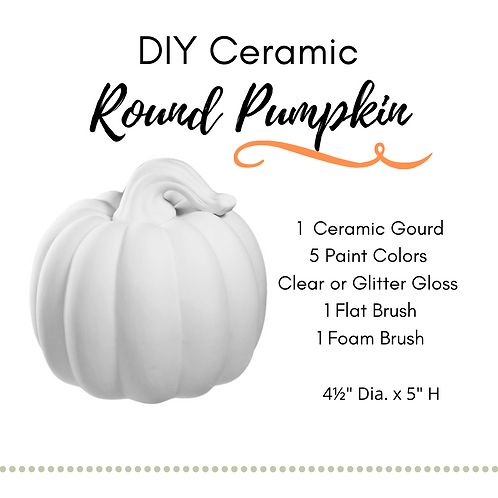 DIY Round Pumpkin Ceramic Painting Kit