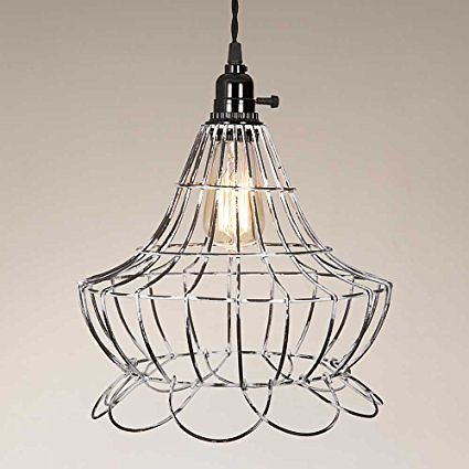 Home sweet tree milford antique home interiors scallop wire scallop wire pendant lamp aloadofball Choice Image