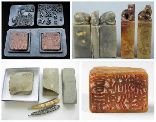Древние штампы и печати китая. Печати страны восходящего солнца из камня, кости. Фото древние печати.