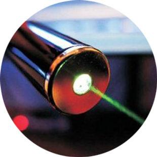 фото лазерного луча из излучателя