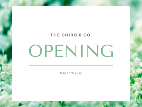 The Chiro & Co Re-opening!