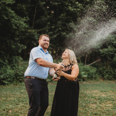 Champagne Engagement Sessions
