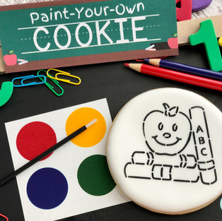 Back to School Paint Your Own Cookie