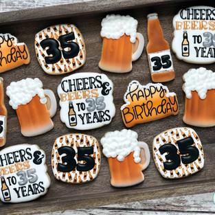 Cheers and Beers Birthday Cookies