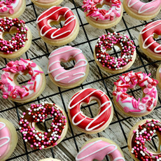 Mini Donut Valentine's Day Cookies