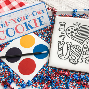 4th of July Paint-Your-Own Cookie