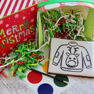 Paint-Your-Own Christmas Sweater Cookie