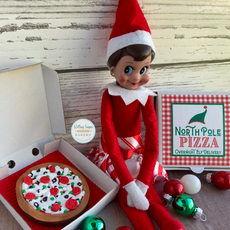 North Pole Pizza Christmas Cookies