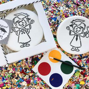 Paint-Your-Own Graduation Cookie