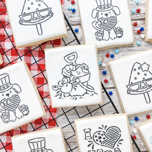 4th of July Paint-Your-Own Cookies