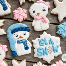 Let It Snow Winter Cookies