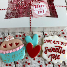 You Are My Sweetie Pie Valentine's Day Cookies