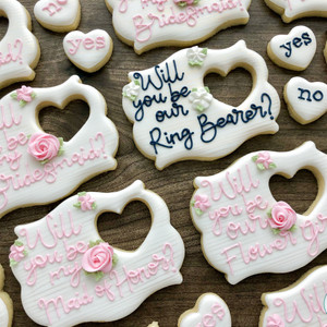 Wedding Party Proposal Cookies