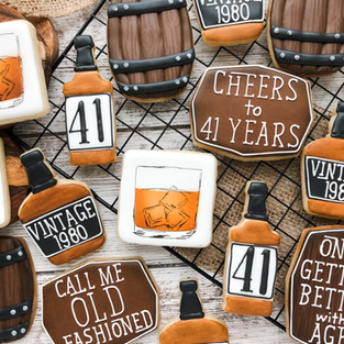 Bourbon Birthday Cookies